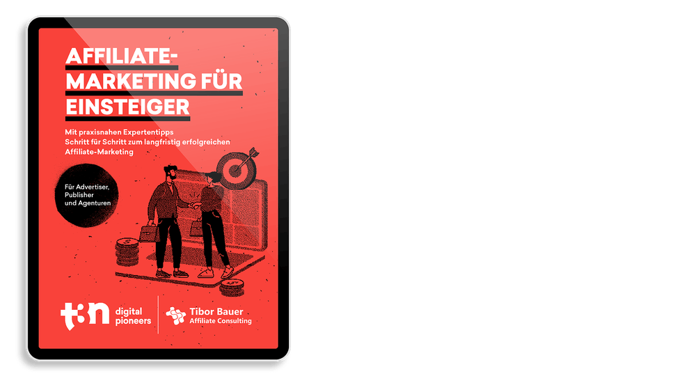 """Das Cover des t3n Guides """"Affiliate-Marketing für Einsteiger"""" mit Affiliate-Experte Tibor Bauer"""