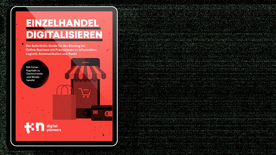 """Das Cover des t3n Guides """"Einzelhandel digitalisieren"""""""