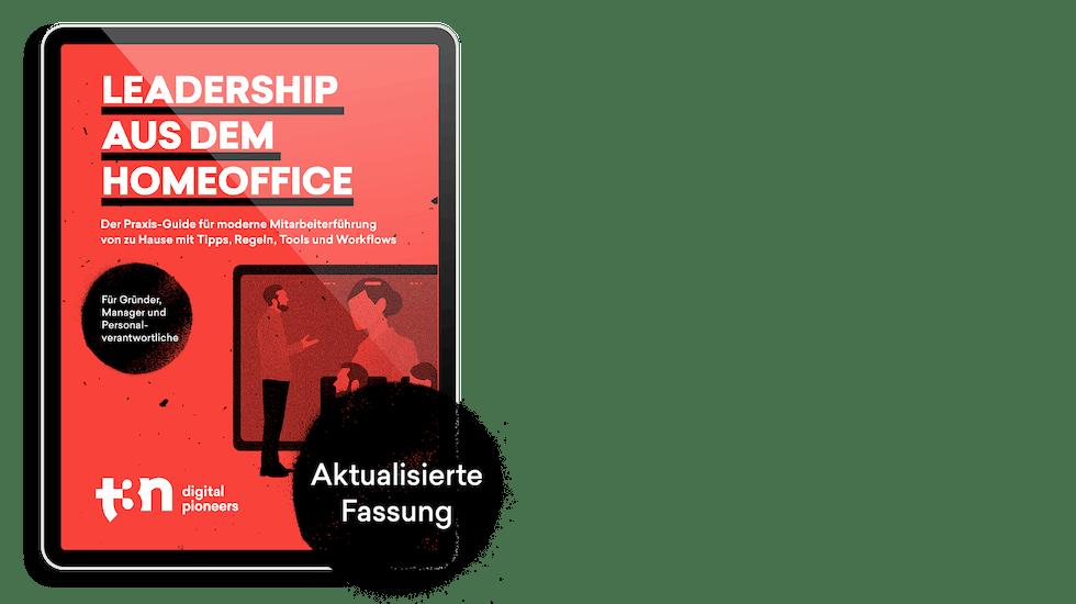 """Das Cover des t3n Guides """"Leadership aus dem Homeoffice"""""""